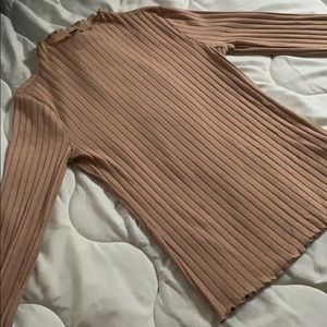 forever 21 nude long sleeve shirt